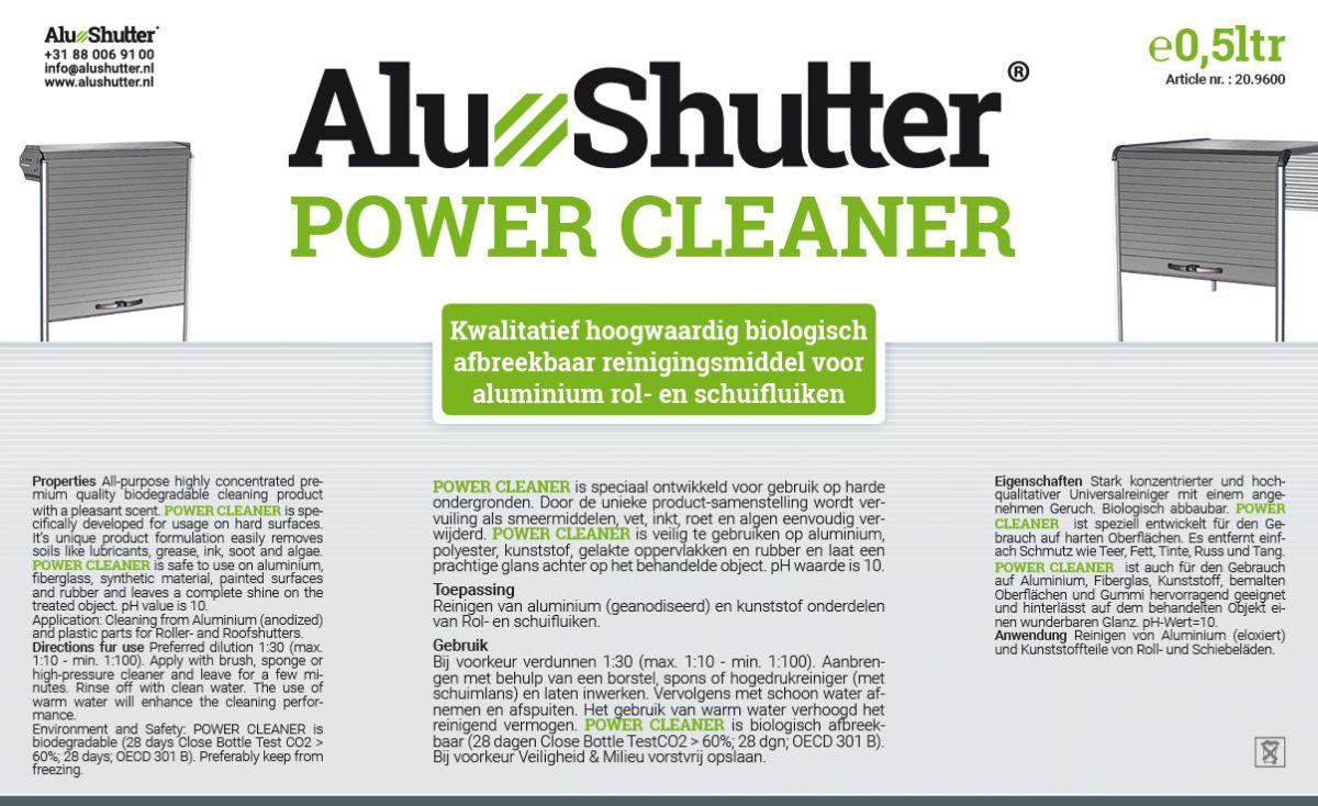 alushutter power cleaner