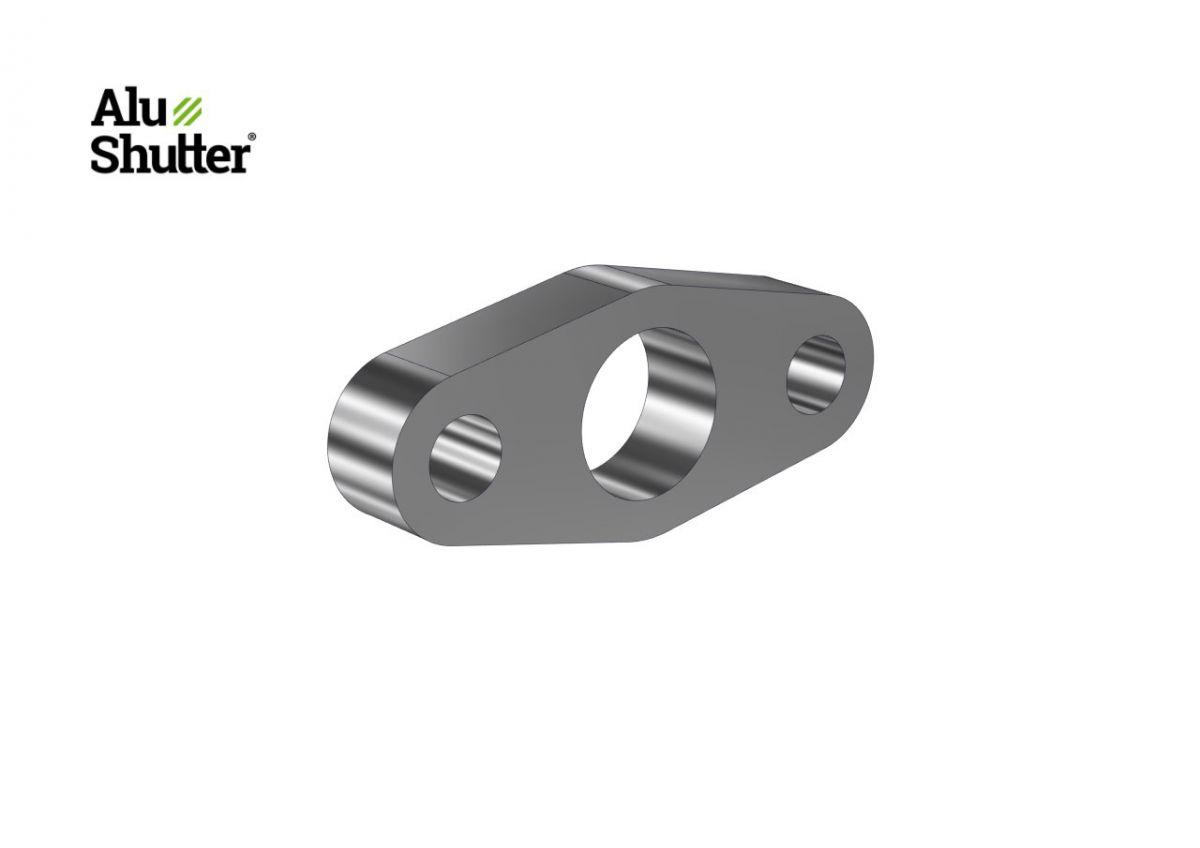bearing support 60mm tube aluminum alushutter