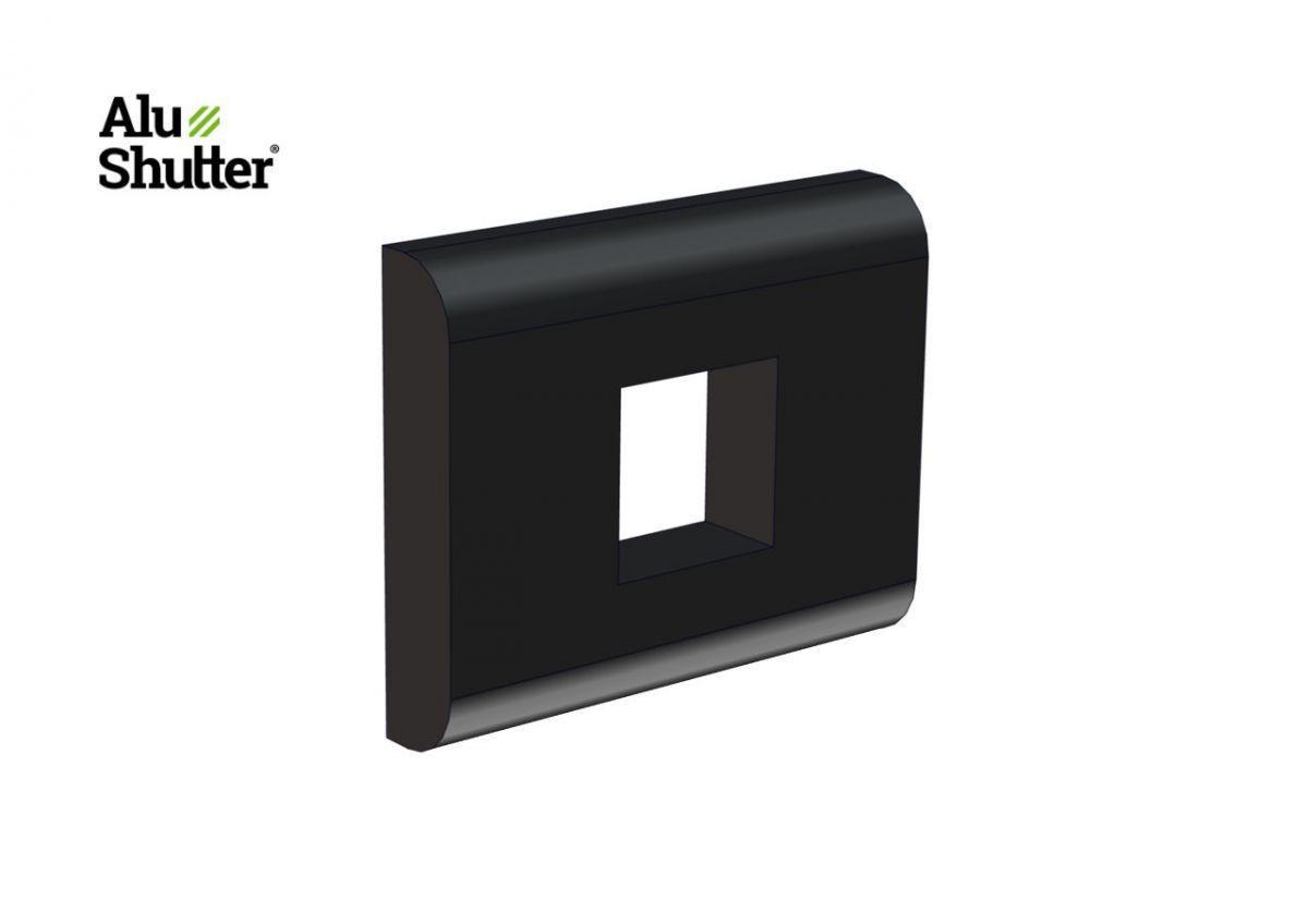 block plate button double handle alushutter