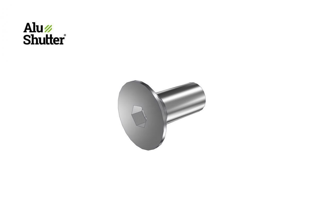 countersunk allen screw m5x12mm stainless steel a2