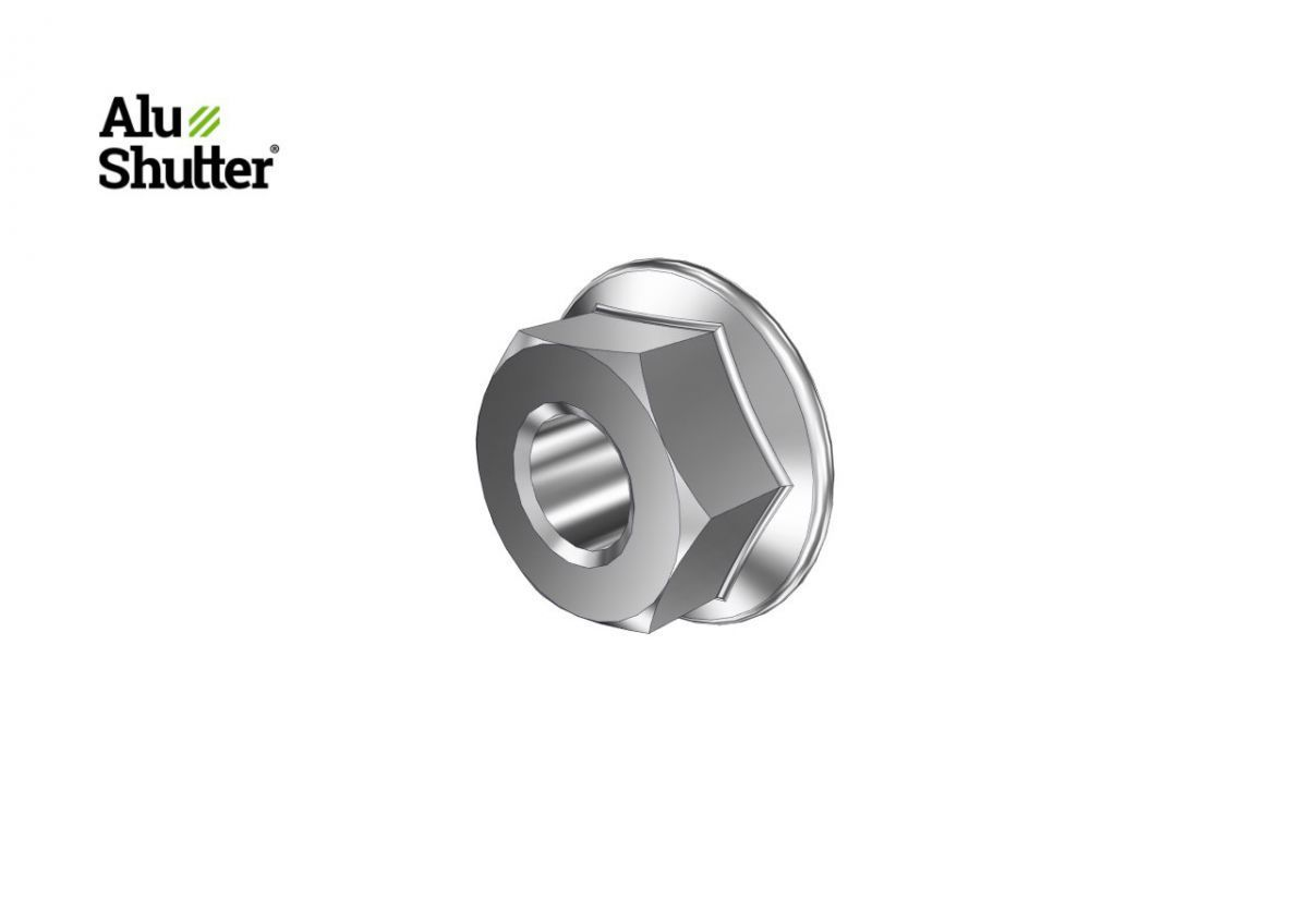 flanged hex nut with teeth m6 stainless steel a2