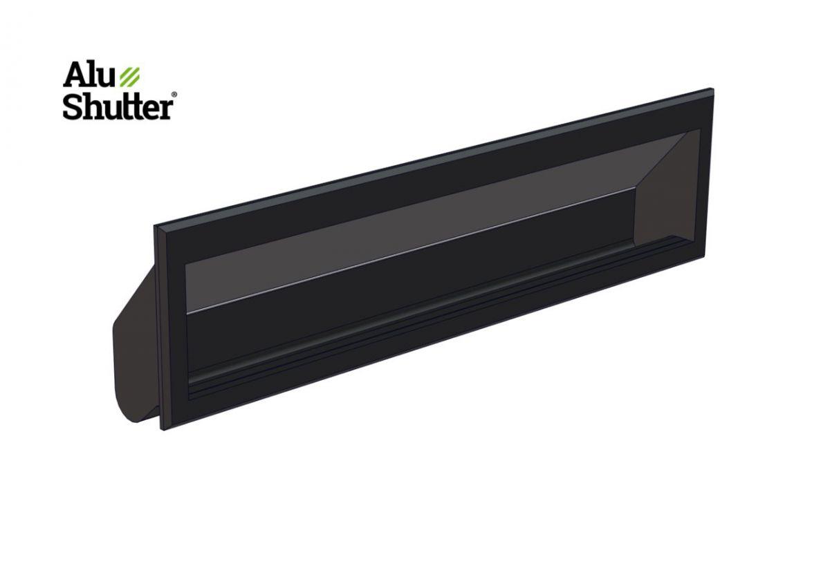 flat handle 127x25mm black abs alushutter