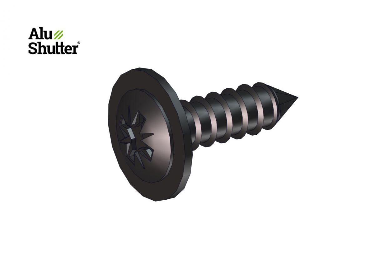 flat round head screw with ring 39x13mm elv black