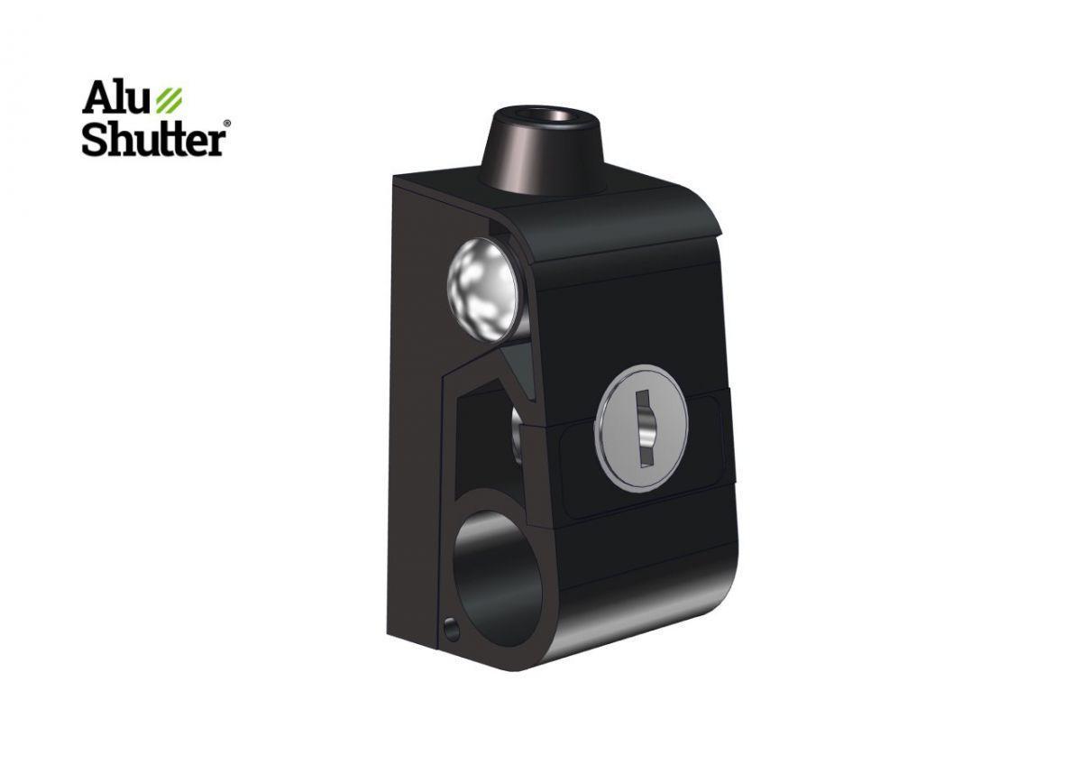 holder hinged lockable for rod lock alushutter