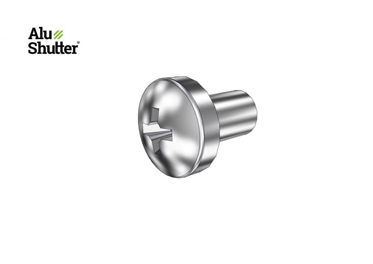 pan head screw cylinder g galvanized m5x8mm