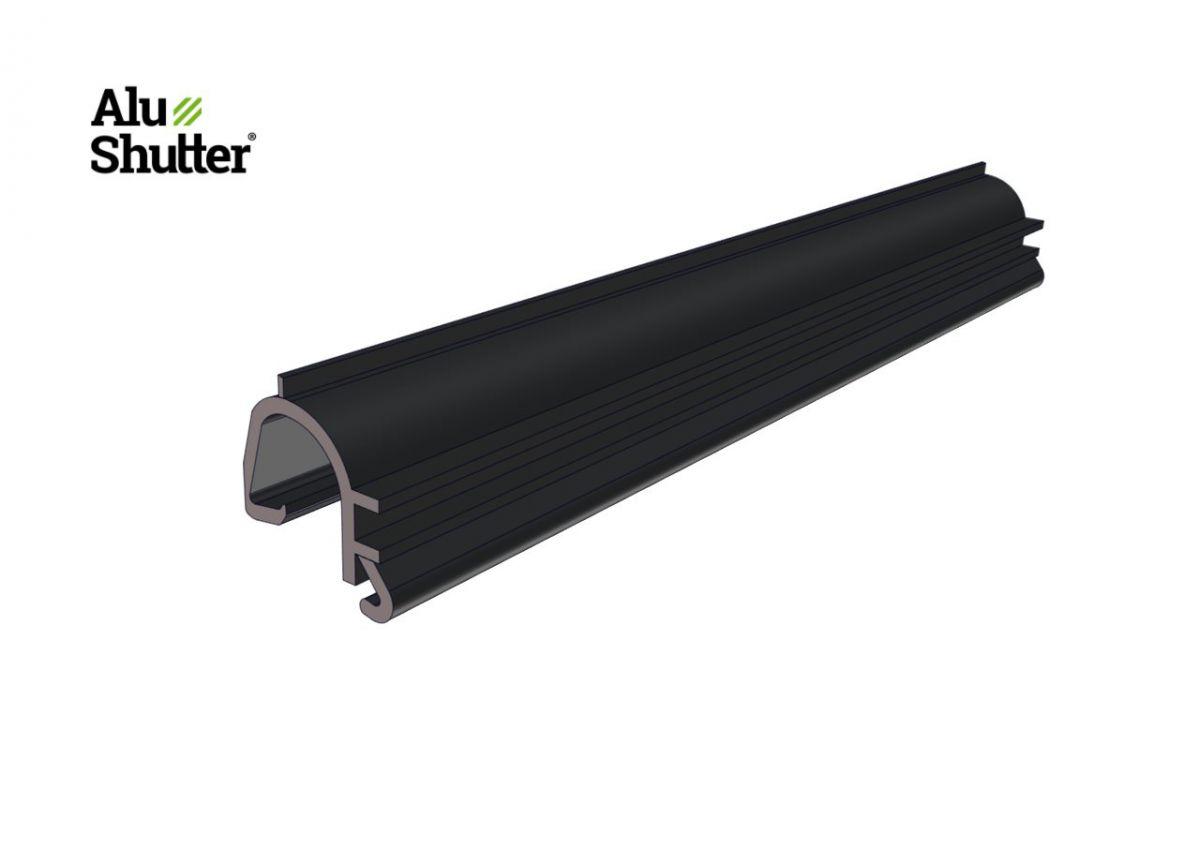 plastic inlay strip double profile alushutter