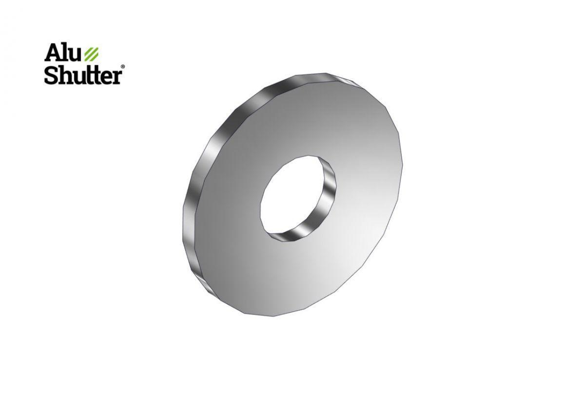 rondelle platem5x16mm en acier inoxydable a2
