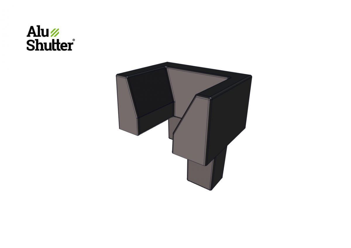 top cover side guide left alushutter